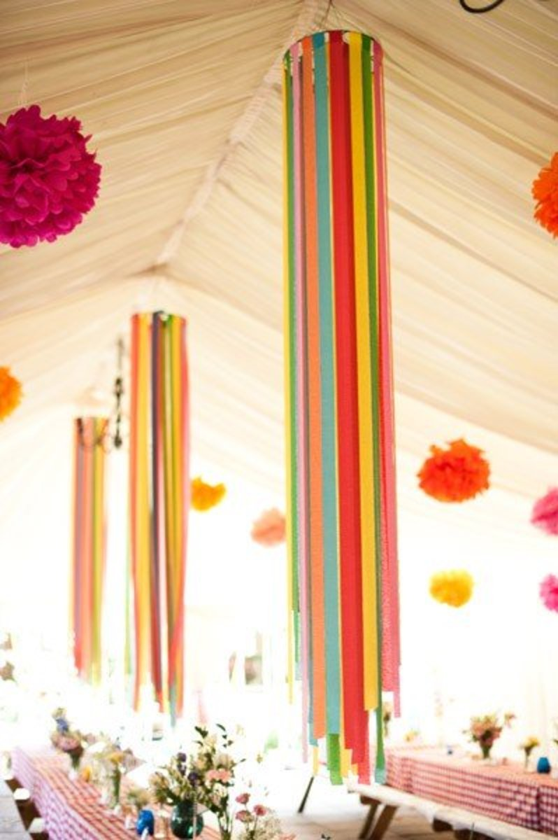 Create Ceiling Party Streamers