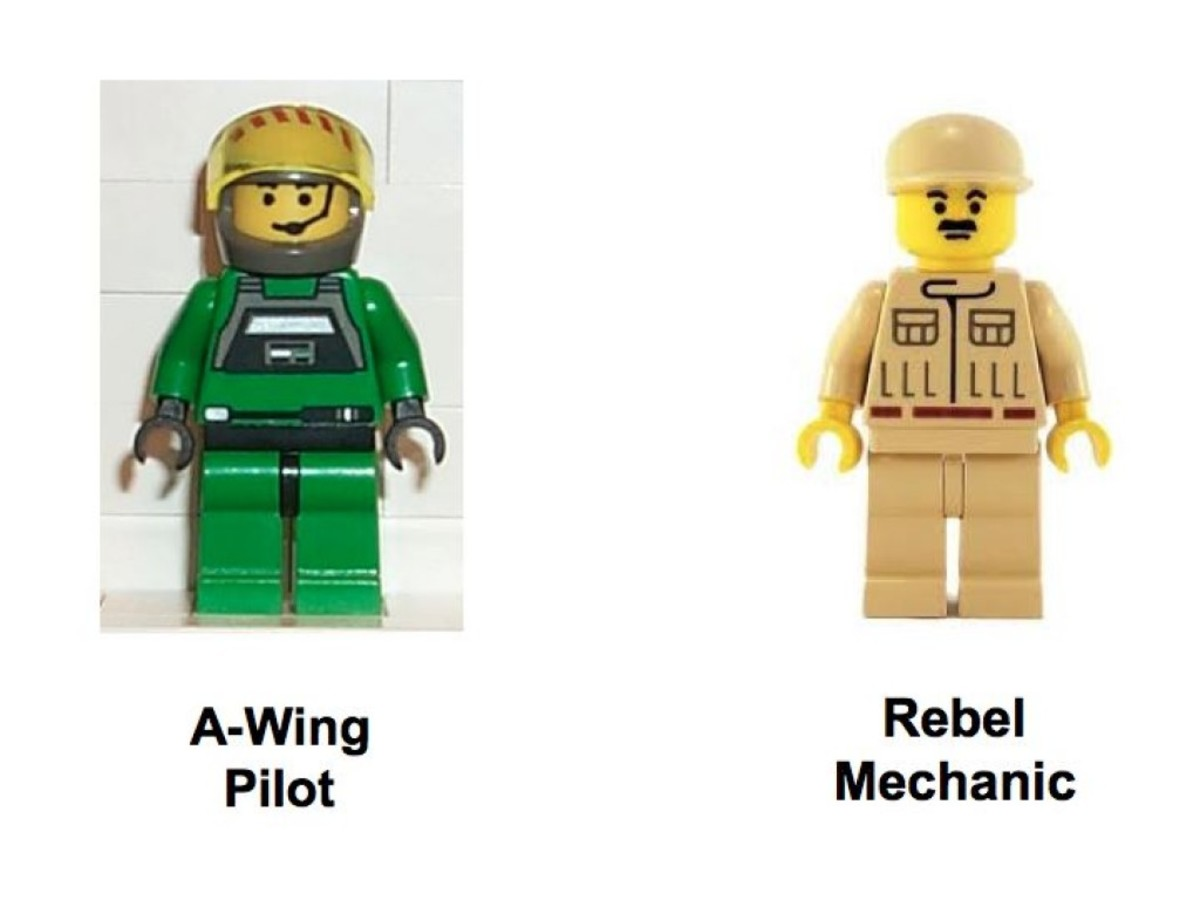Lego B Wing Pilot Minifigure Star Wars From 7180 Spielzeug