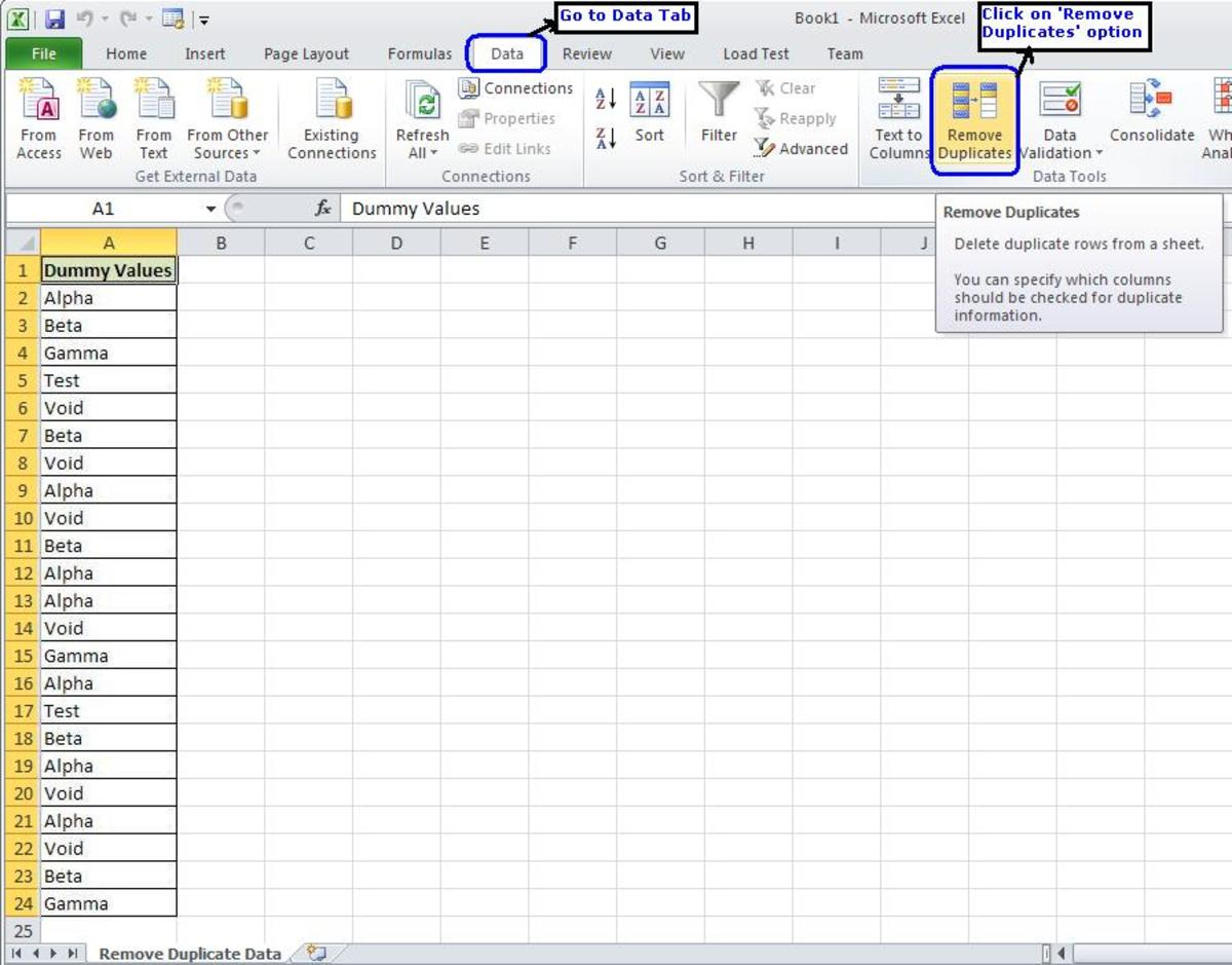 How To Remove Duplicates From An Excel Sheet