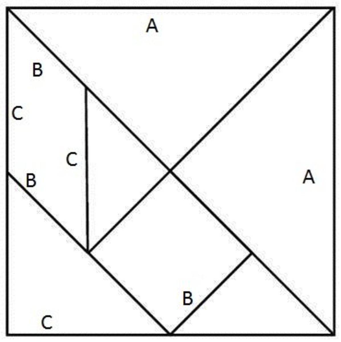 How To Make A Tangram Square The Chinese Puzzle Game