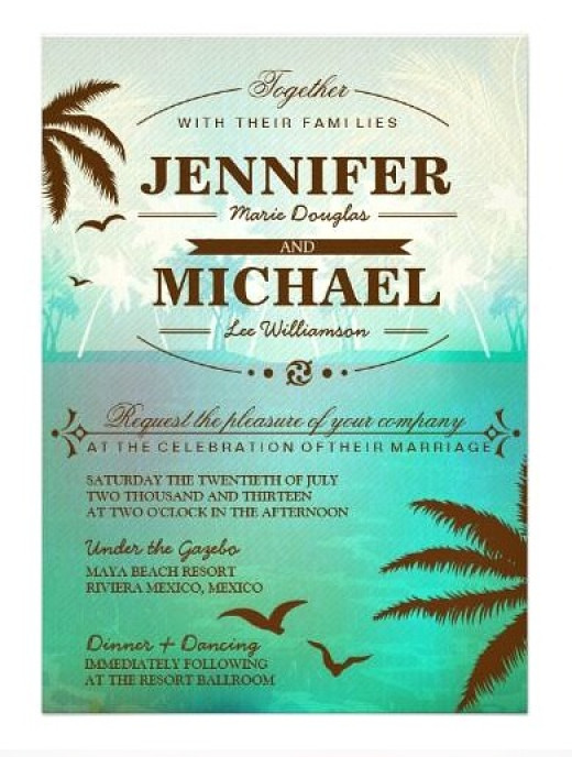 Destination Wedding Invitation Wording Example 3
