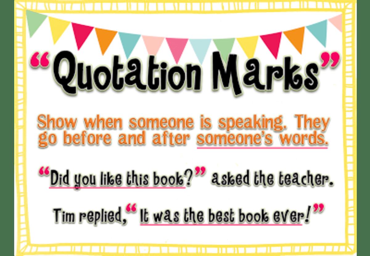 Where Do Quotation Marks Belong