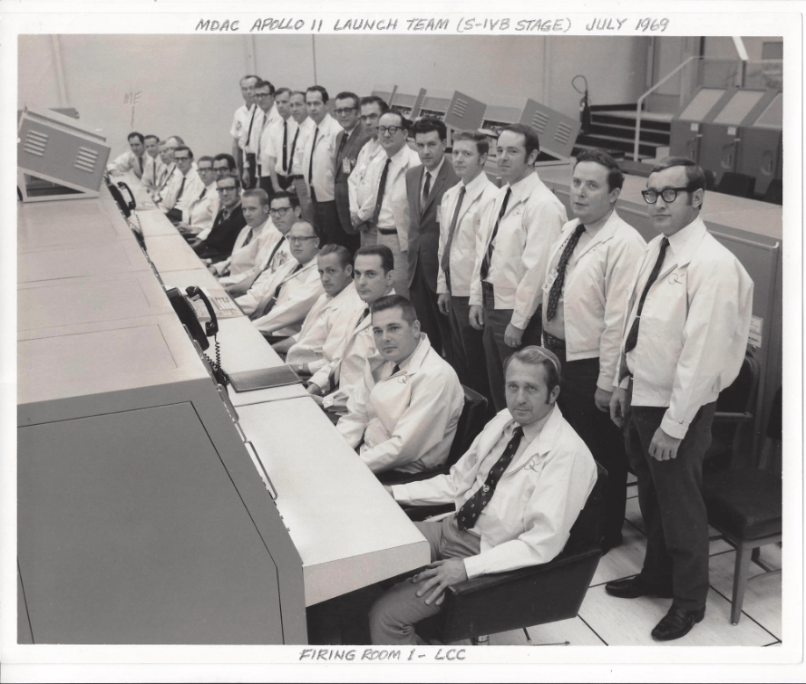 Apollo 11 S-IVB Launch Team pic, Jim last man in sitting row.