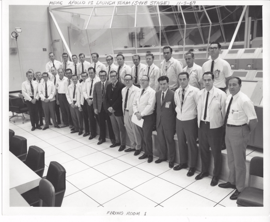 Apollo 12 S-IVB Launch Team pic, Jim in middle of group.