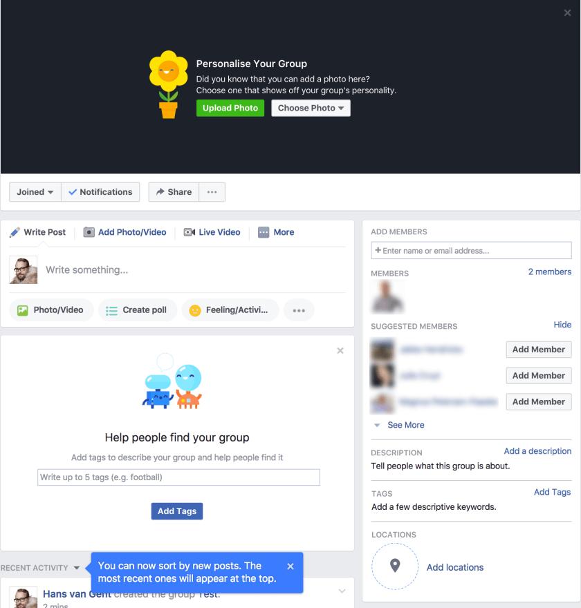 Creating a Facebook Group: Finalising the Facebook Group setup