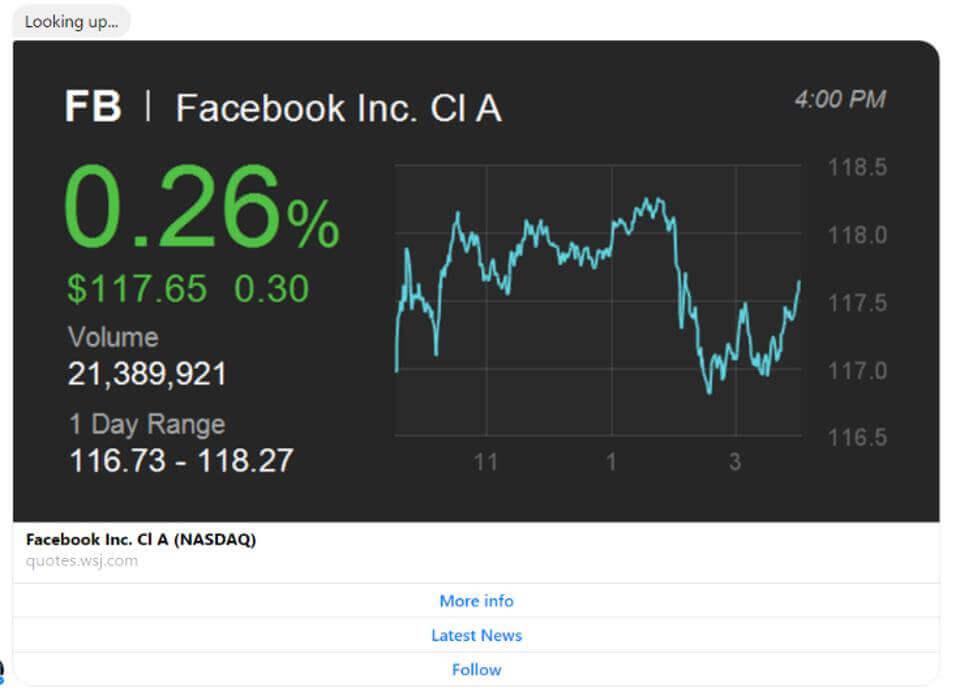 The Wall Street Journal Facebook Messenger Bot