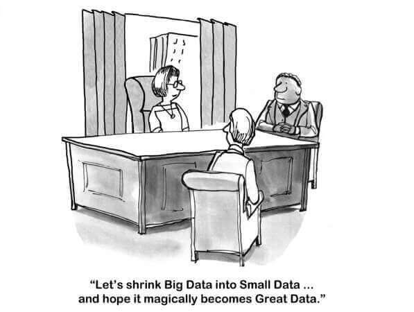 Let's shrink Big Data into Small Data... and hope it magically becomes Great Data.