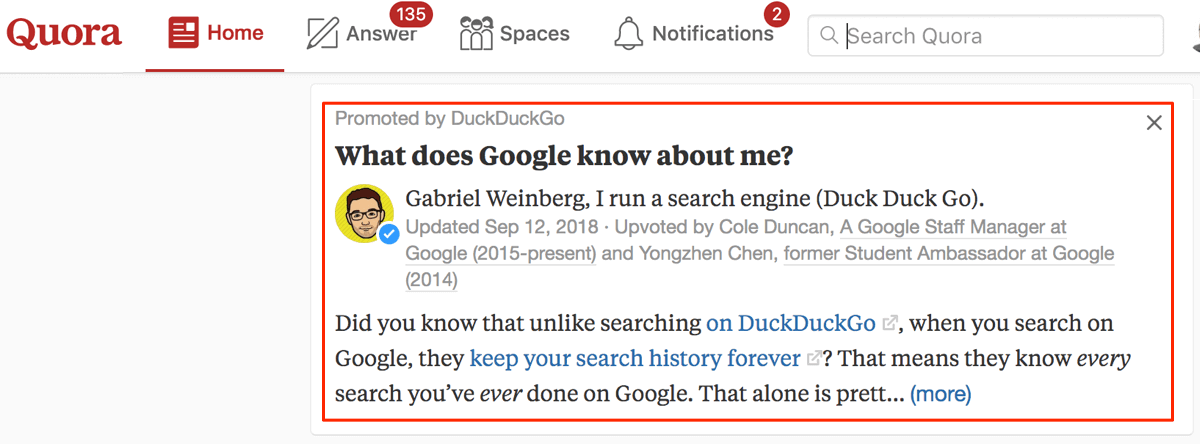 Using Quora promoted answers to boost your reach and raise awareness