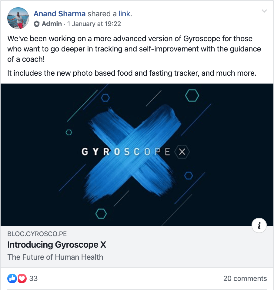 An exclusive members only community on Facebook for Gyroscope Pro members