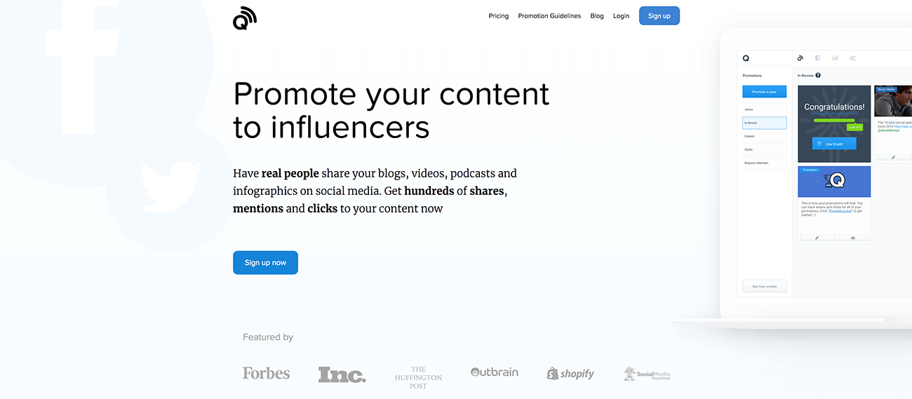 Quuu Promote - Promote your content to influencers