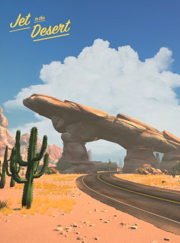 Jet to the desert