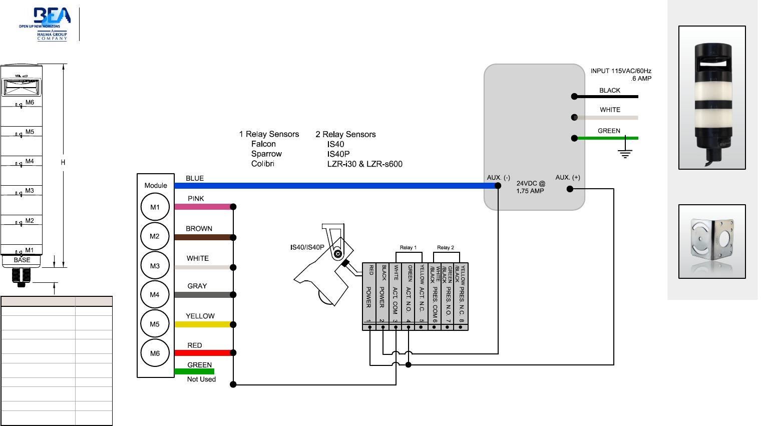 Bea 75 03 Banner Wiring Diagram Led Signal Column Lights