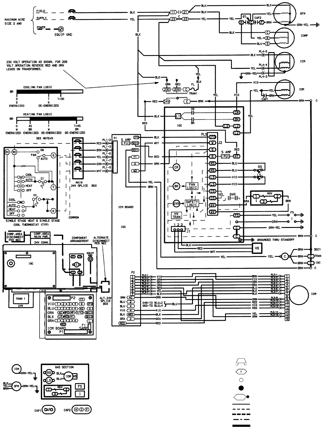 Diagram Basic Hvac Indoor Blower Fan Capacitor Wiring