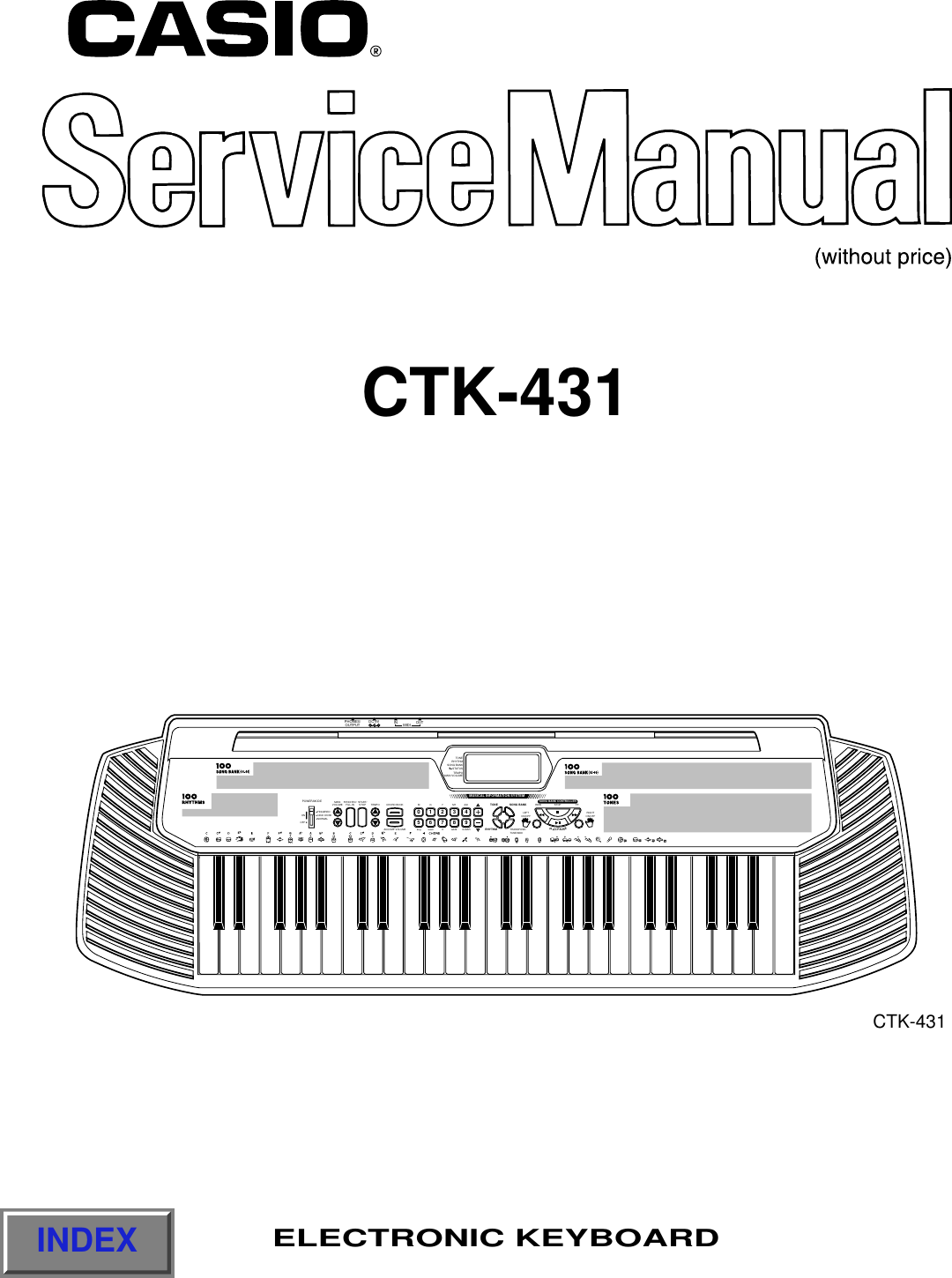 Casio Electronic Keyboard Users Manual S M Ctk 431