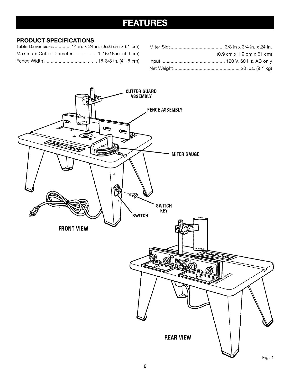 Craftsman User Manual Router Table Manuals And
