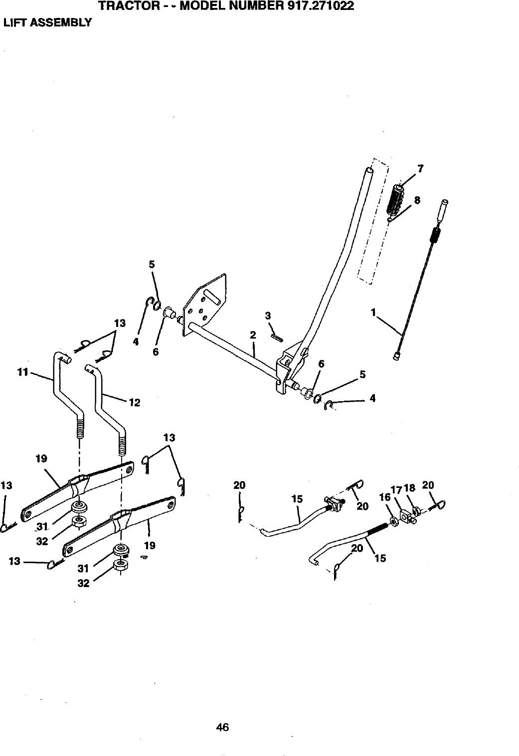 917 Craftsman Mower Wiring Diagram Wiring Diagram