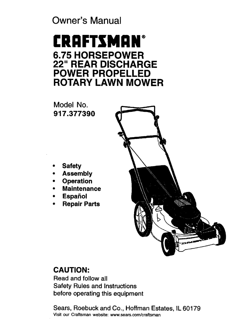 User Manual Rotary Mower Manuals