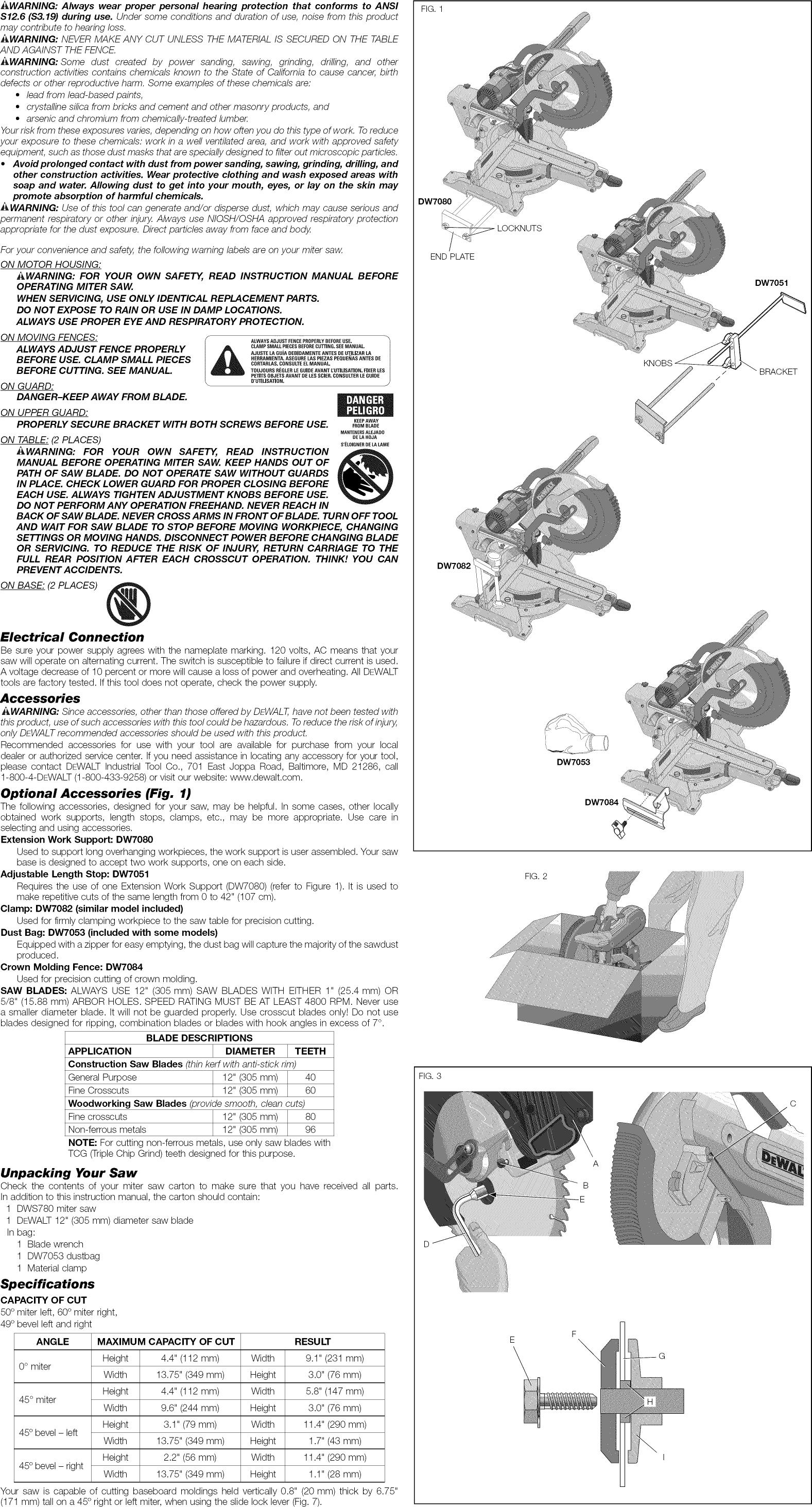 Dewalt Tool Manuals