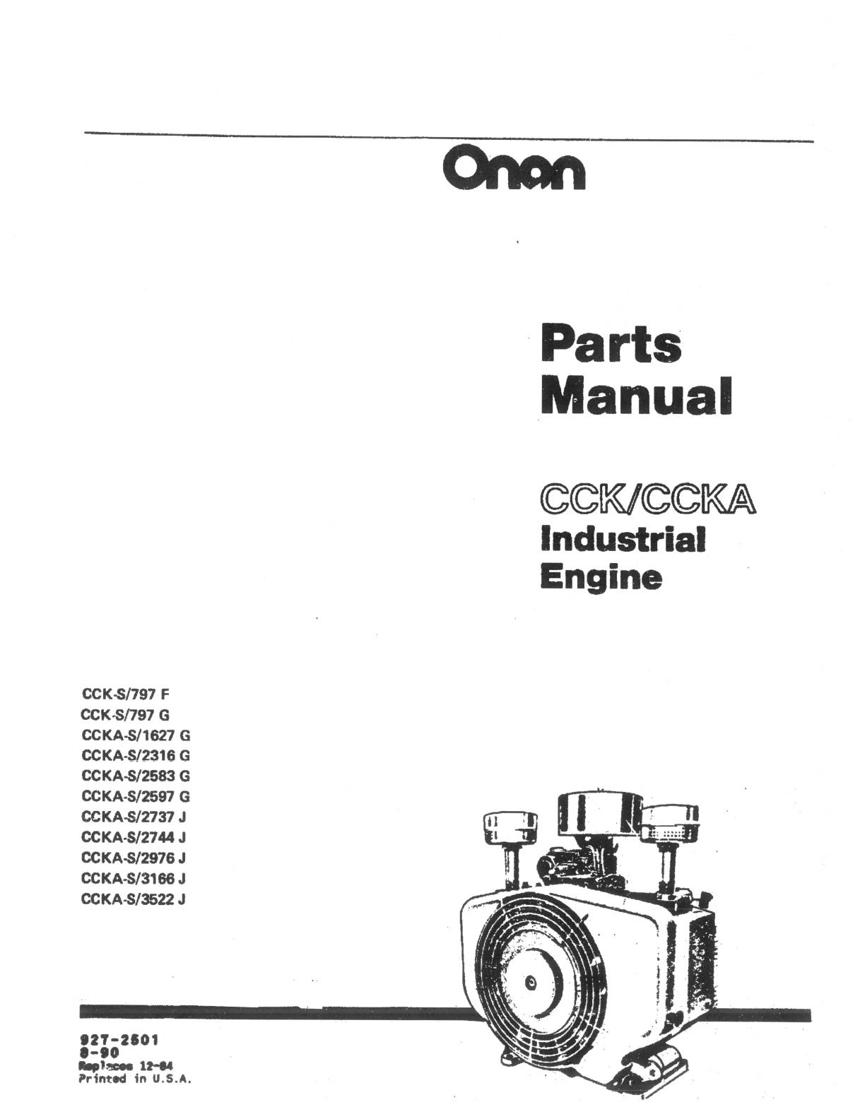 Vicb4 927 Onan Cck Ccka Industrial Engine Parts