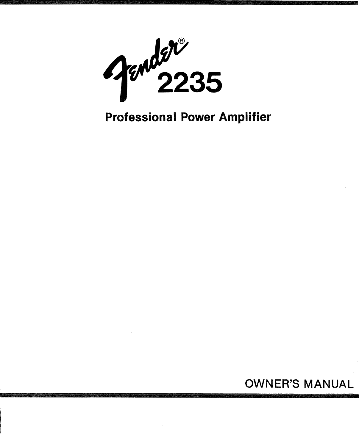 Bestseller Fender Amp Manual