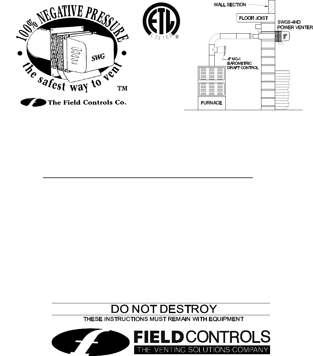 Field Controls Instruction Manual Manualslib