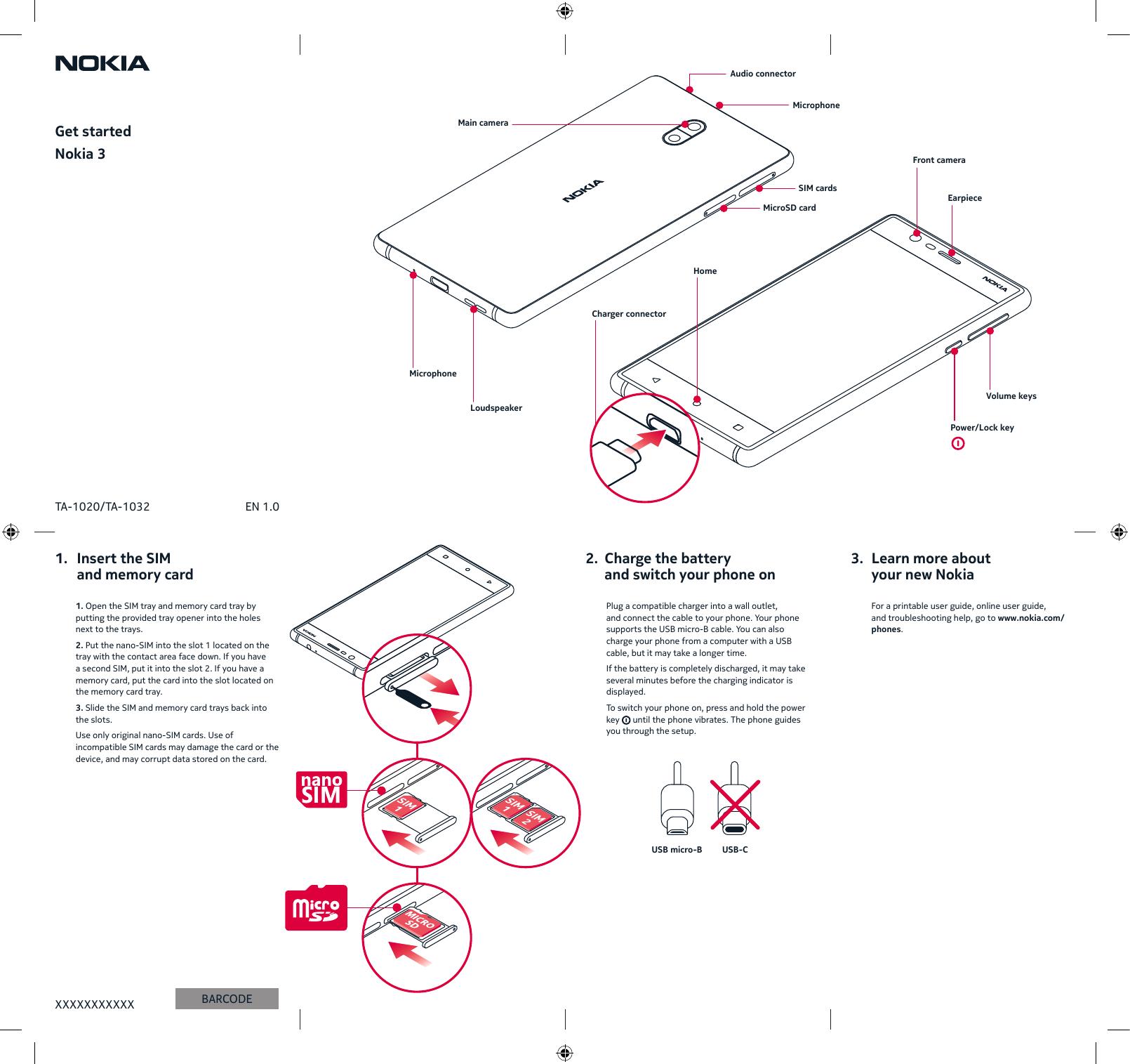 Hmd Global Ta Smart Phone User Manual Quick Start Guide