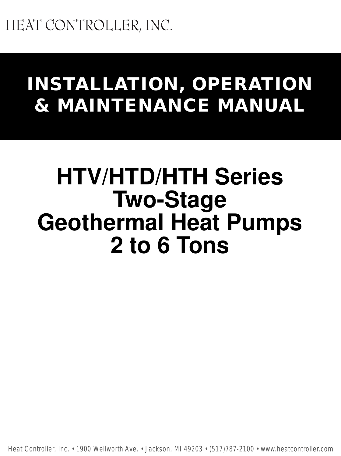 Heat Controller Geomax 2 Two Stage Geothermal Quick Start Guide