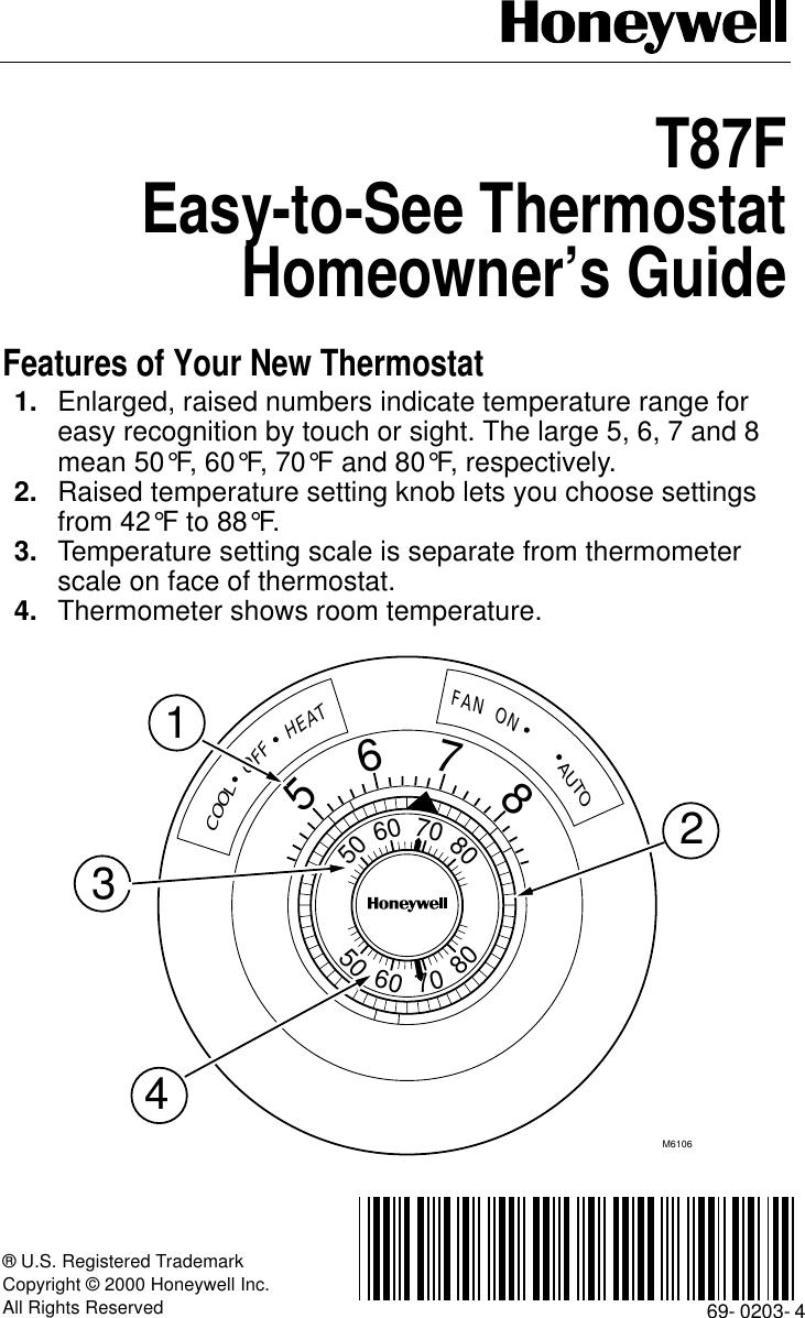 Round Honeywell Mercury Thermostats Thermostat S