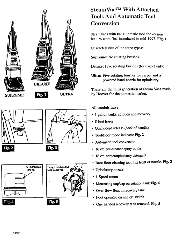 Hoover Steamvac Carpet Cleaner Directions Www Cintronbeveragegroup Com