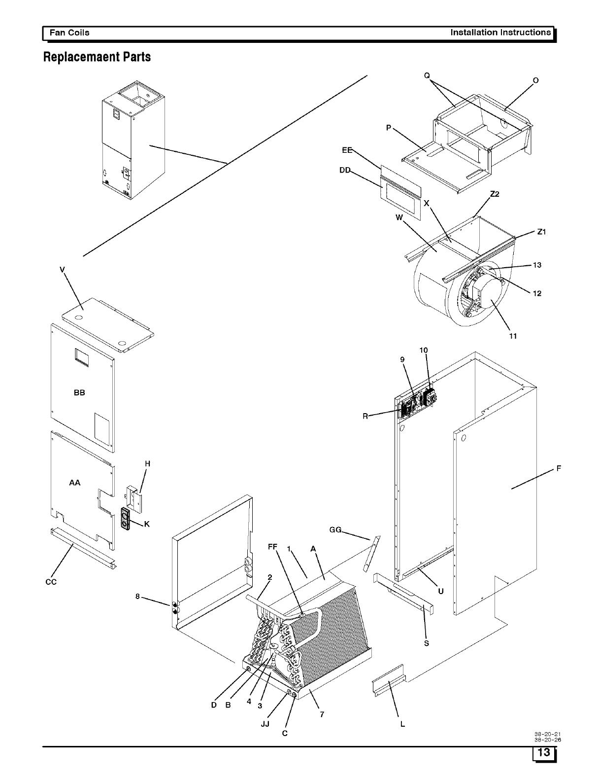 I fan coils installation instructions