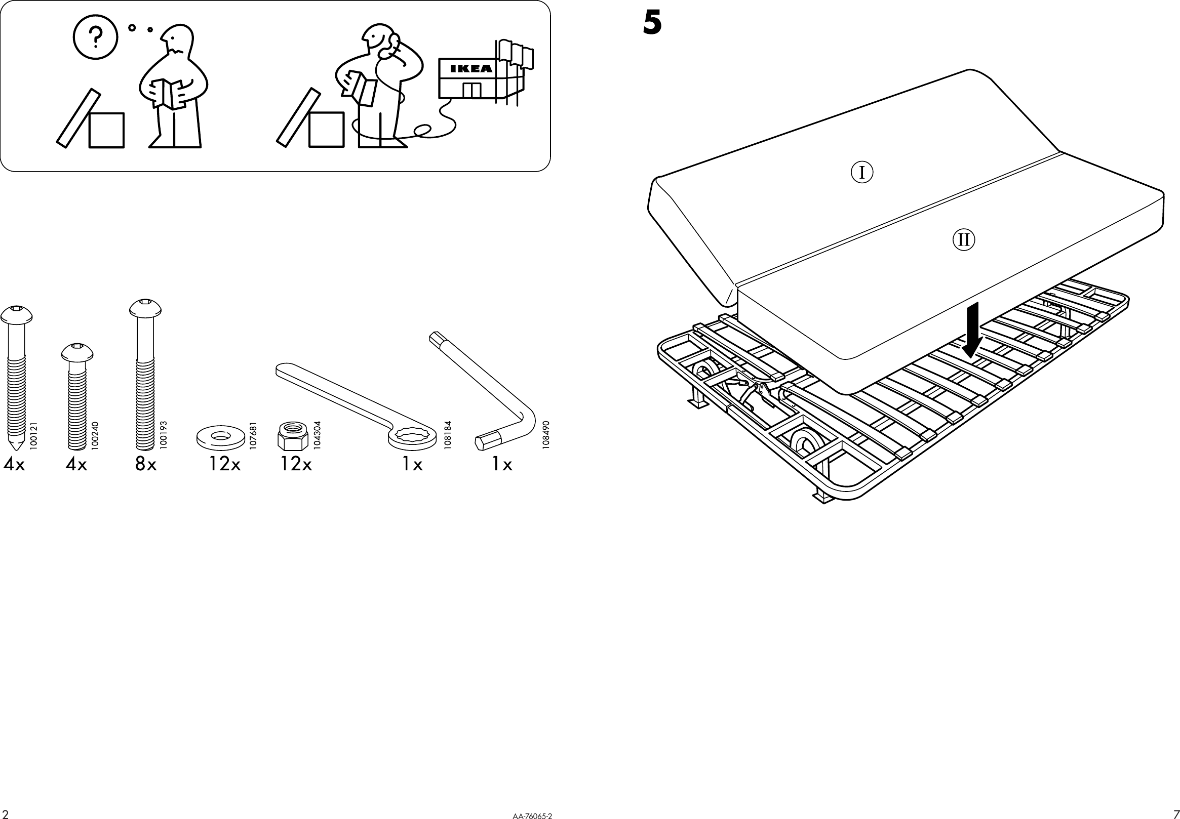 Ikea Exarby Sofa Bed Frame Assembly Instruction 3