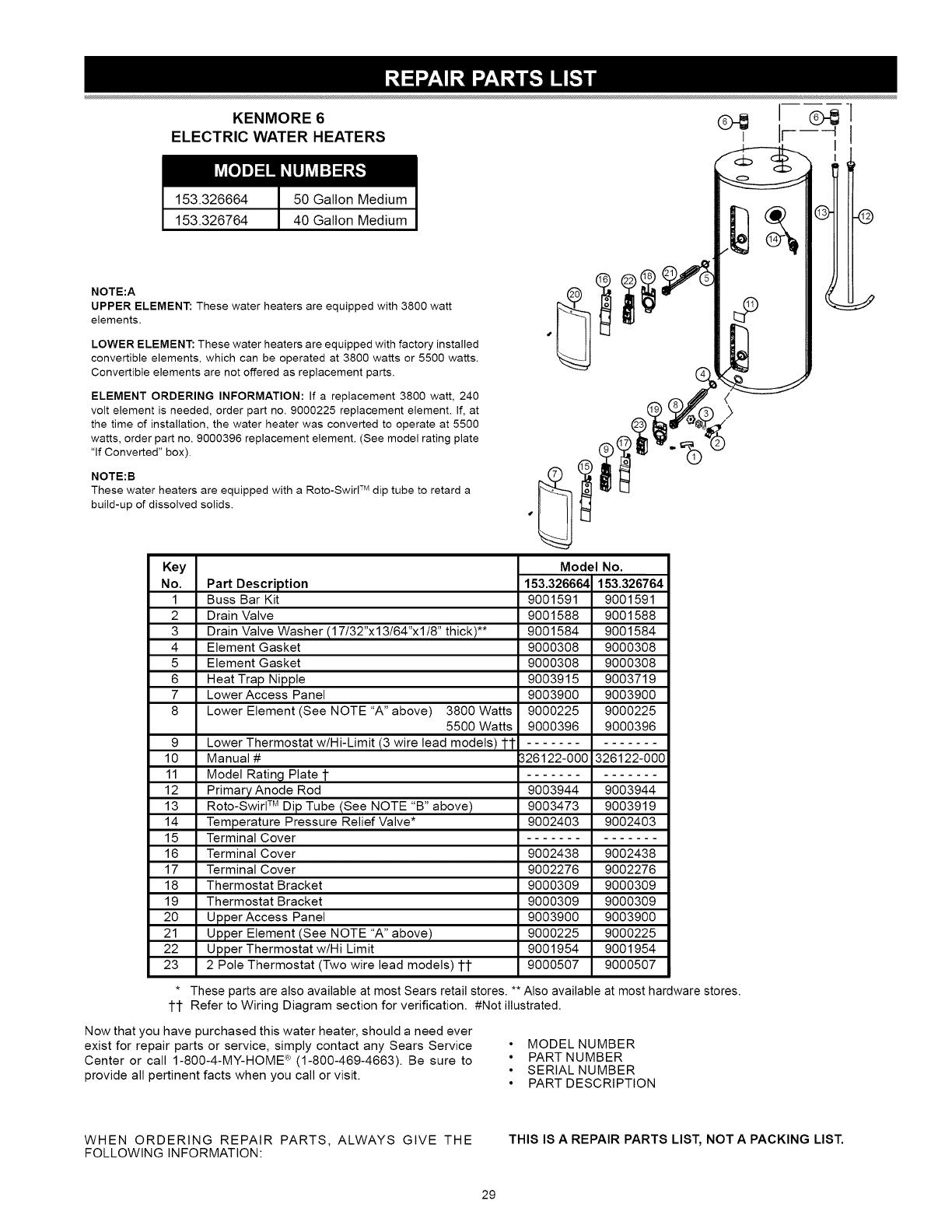 Kenmore User Manual Water Heater Manuals And