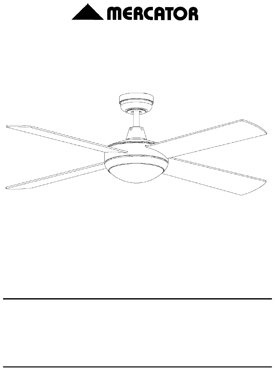 Mercator Ceiling Fan With Light Wiring Diagram