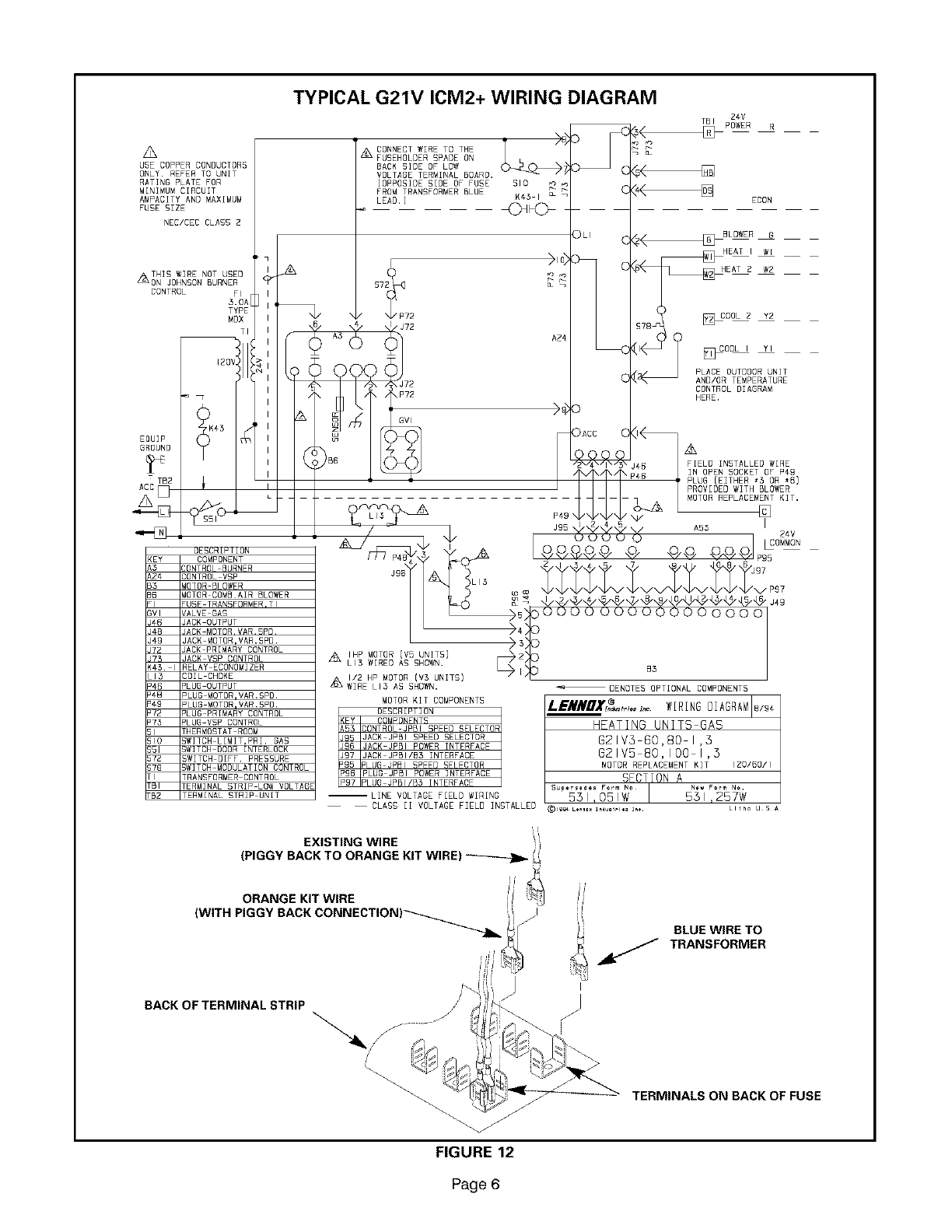 Lennox Furnace Heater Gas Manual L08a