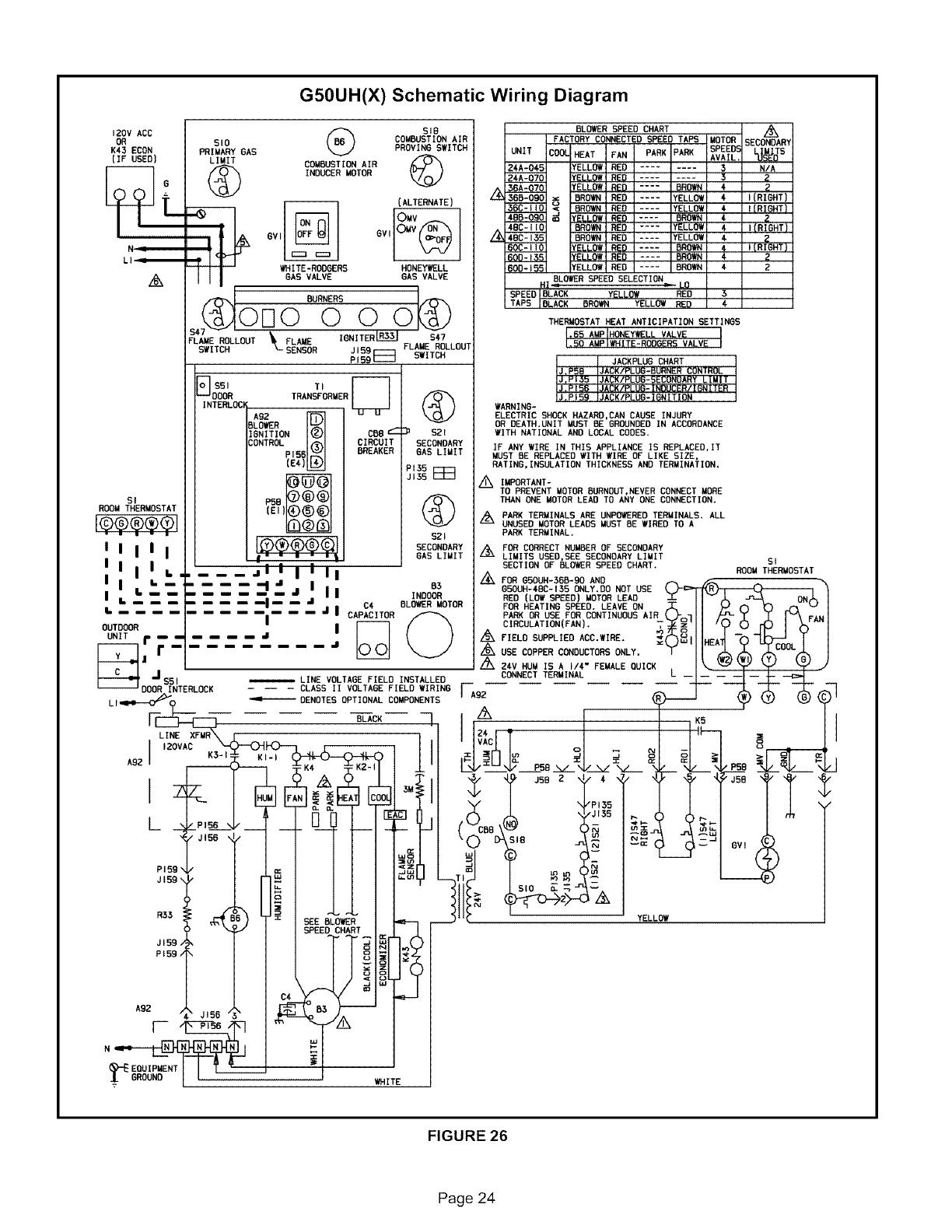 Lennox International Inc G50uh 24a 045 Users Manual