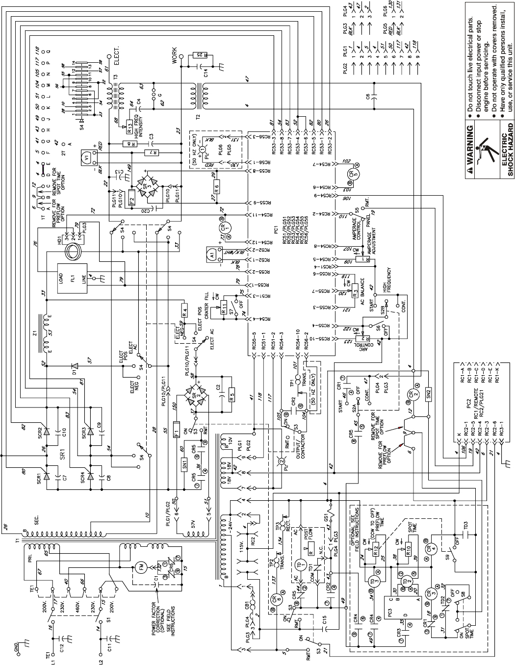 Tm 353 page 56 syncrowave 250