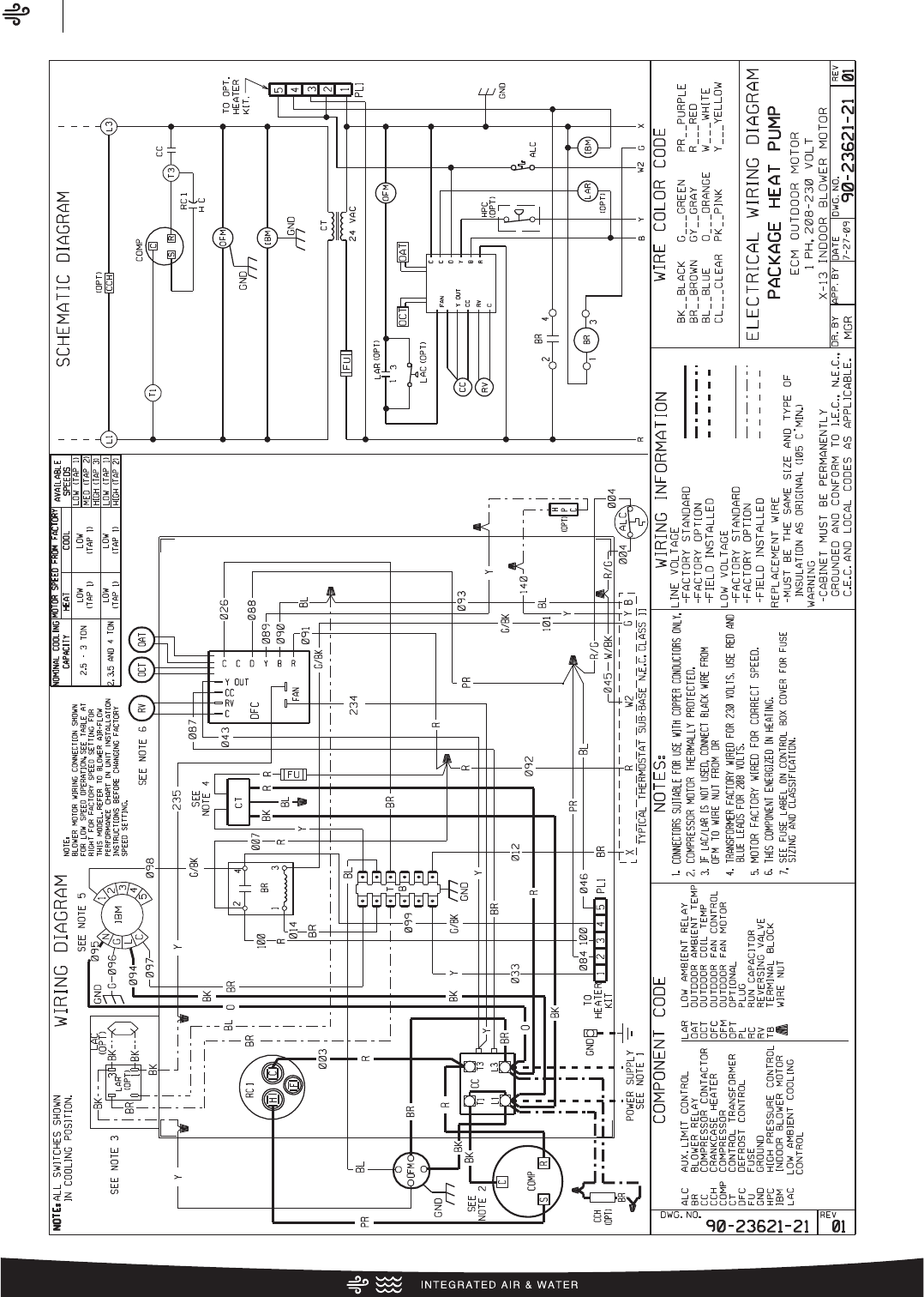 Rheem Classic Series Package Heat Pump Specification Sheet