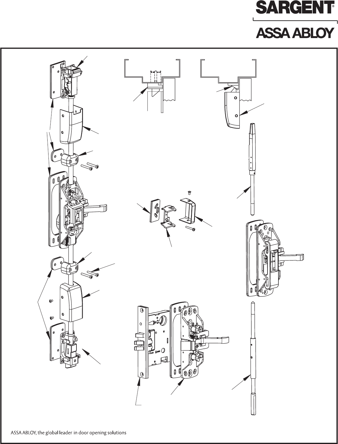 Sargent Instructions For Mounting 80 Series Exit Device