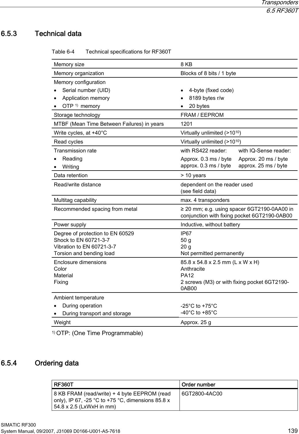 Siemens Rf380r Tag Reader User Manual Simatic Sensors Rfid