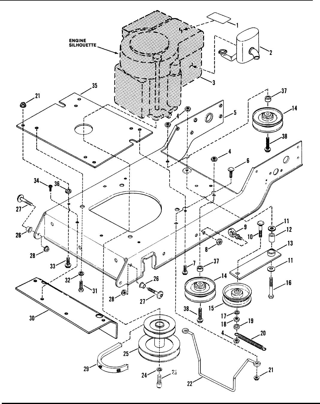 Engine base drive parts