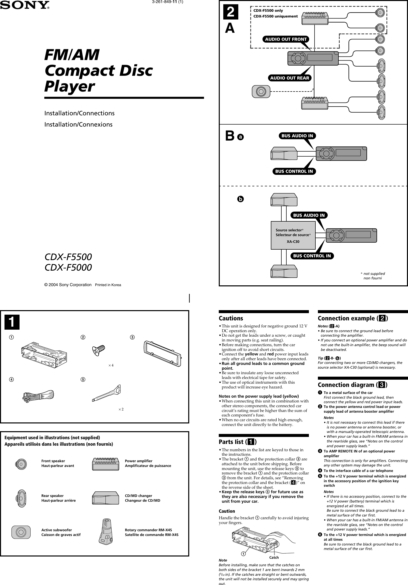 Sony Cdx F Wiring Diagram