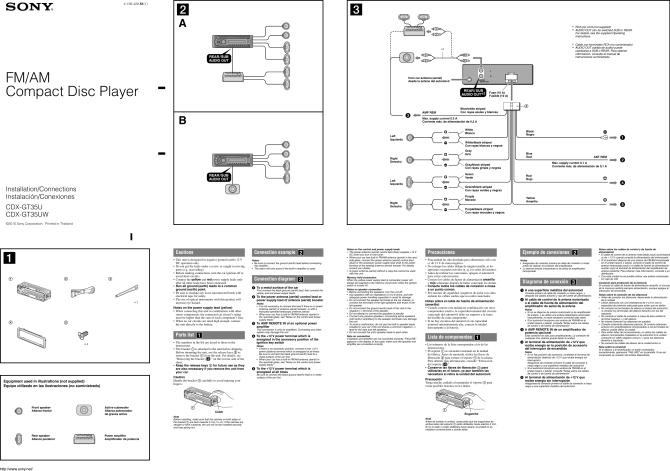 sony cdx gt35uw installation connections manual gt35u/gt35uw