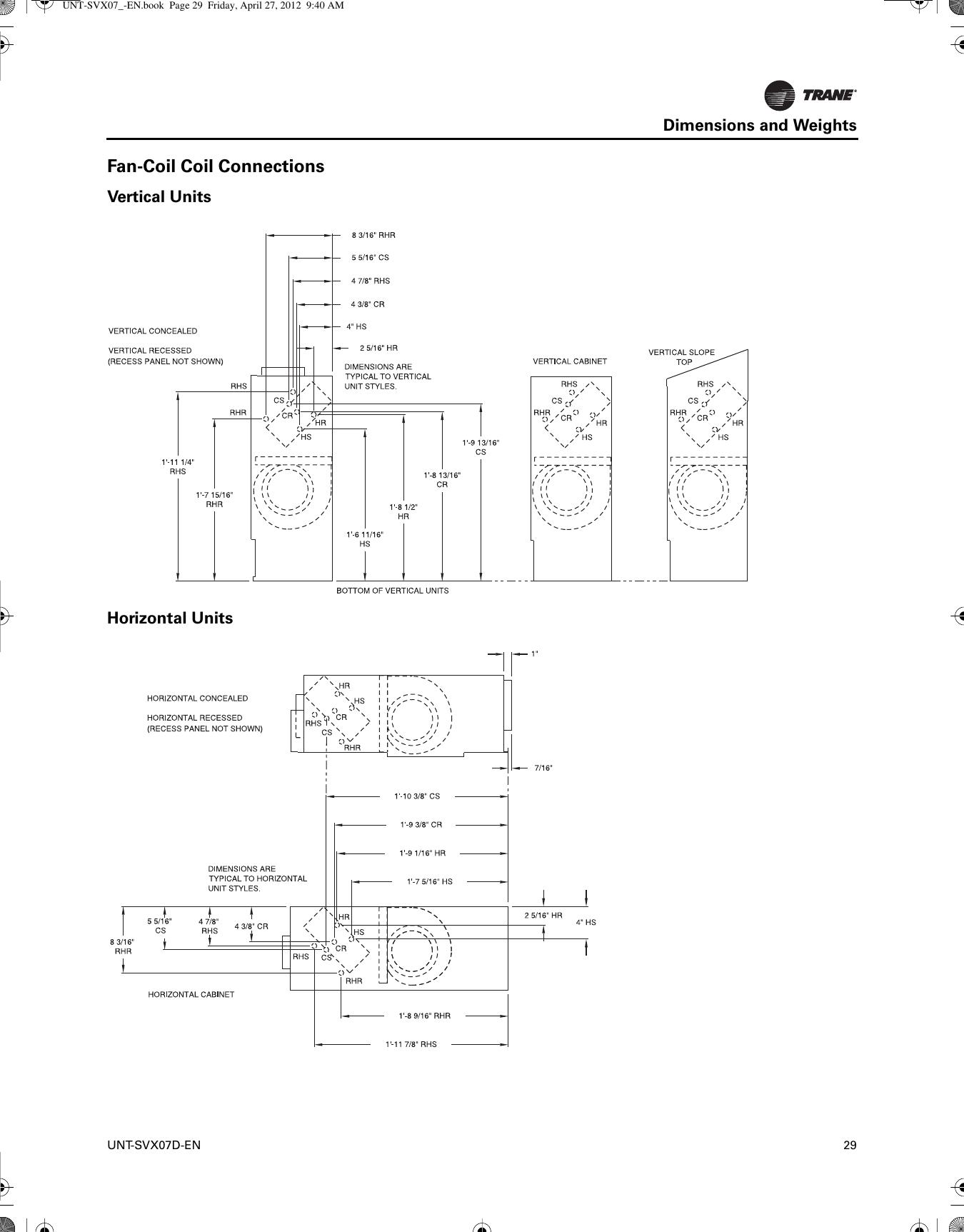 Page 29 of 138 trane trane uni fan coil and
