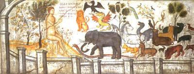 Αποτέλεσμα εικόνας για ο αδαμ στον παραδεισο τοιχογραφια