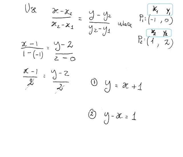 How do you write the equation of a line in point slope form and