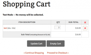 eShop Cart with fixed-rate discounts