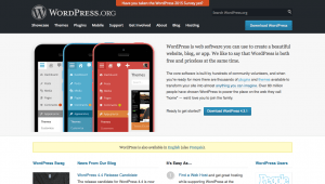 WordPress.org Site with CSS