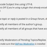 BuddyPress Notification Settings