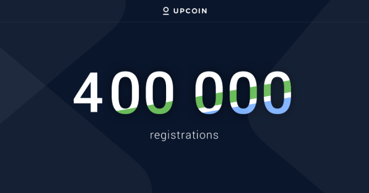 upcoin 400k registrations - Upcoin Exchange Will Be Live In Less Than 24hrs