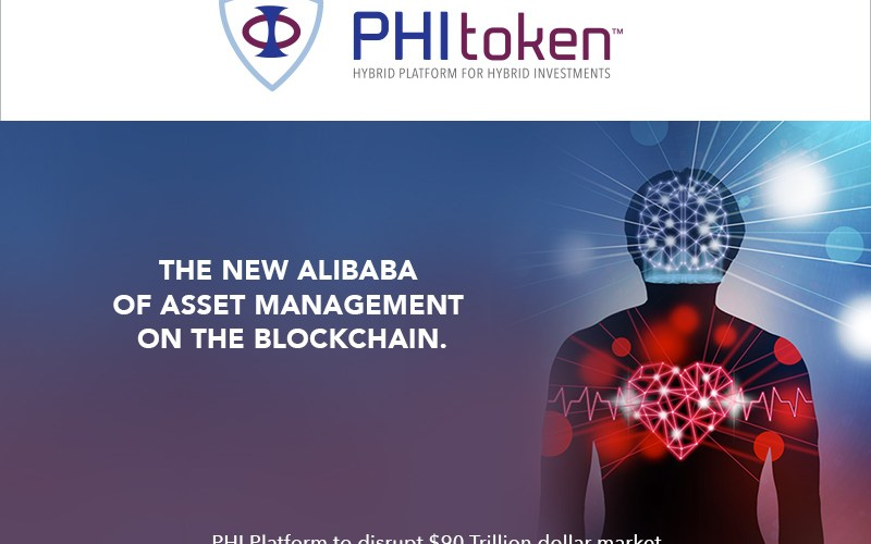 PHI pr cover - World's First Hybrid Investment Platform, PHI Token, raises £4.7M in first two days of pre-ICO sale